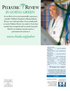 Pediatric Review IS GOING GREEN