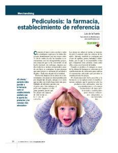 Pediculosis: la farmacia, establecimiento de referencia