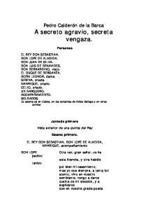 Pedro Calderón de la Barca A secreto agravio, secreta vengaza