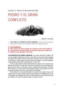 PEDRO Y EL GRAN CONFLICTO