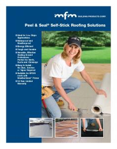 Peel & Seal Self-Stick Roofing Solutions