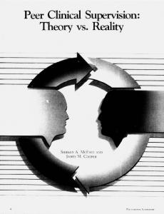 Peer Clinical Supervision: Theory vs. Reality