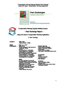 Peer Exchange Report
