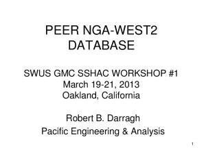 PEER NGA-WEST2 DATABASE