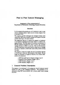 Peer to Peer Instant Messaging