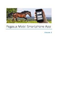 Pegasus Mobil Smartphone App. Version 3
