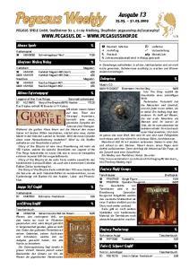 Pegasus Weekly. Ausgabe