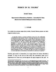 PEIRCE EN EL TOLIMA 1