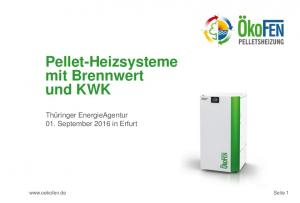 Pellet-Heizsysteme mit Brennwert und KWK