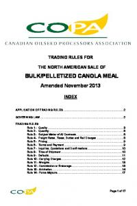 PELLETIZED CANOLA MEAL