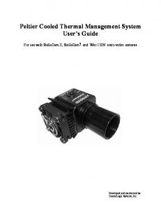 Peltier Cooled Thermal Management System User s Guide