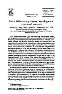 Pelvic inf lammatory disease: new diagnostic criteria and treatment