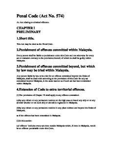 Penal Code (Act No. 574)