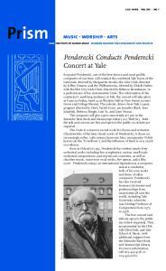Penderecki Conducts Penderecki Concert at Yale