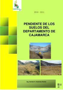 PENDIENTE DE LOS SUELOS DEL DEPARTAMENTO DE CAJAMARCA