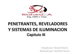 PENETRANTES, REVELADORES Y SISTEMAS DE ILUMINACION