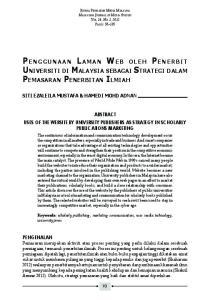Penggunaan Laman Web oleh Penerbit