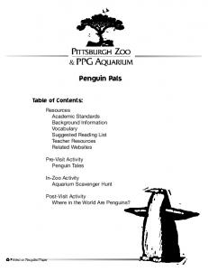 Penguin Pals. Table of Contents: