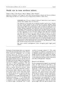 Penile size in term newborn infants