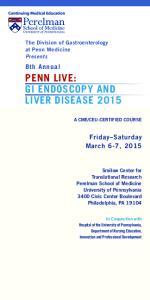 PENN LIVE: GI ENDOSCOPY AND LIVER DISEASE 2015
