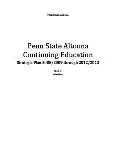 Penn State Altoona Continuing Education