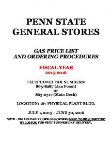 PENN STATE GENERAL STORES