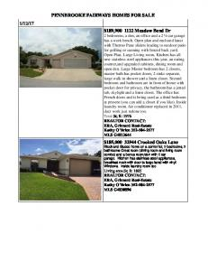 PENNBROOKE FAIRWAYS HOMES FOR SALE