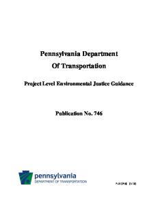 Pennsylvania Department Of Transportation