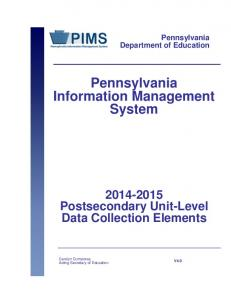Pennsylvania Information Management System