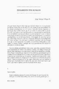 PENSAMIENTO VIVO DE BACON