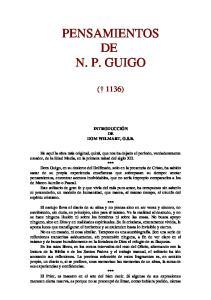PENSAMIENTOS DE N. P. GUIGO