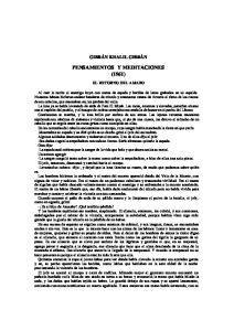 PENSAMIENTOS Y MEDITACIONES (1961)