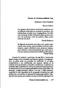 Pensar la intersexualidad, hoy. Mauro Cabral