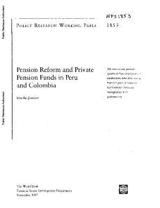 Pension Funds in Peru