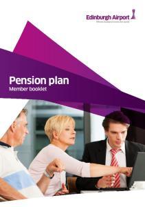 Pension plan Member booklet