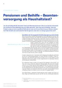 Pensionen und Beihilfe Beamtenversorgung