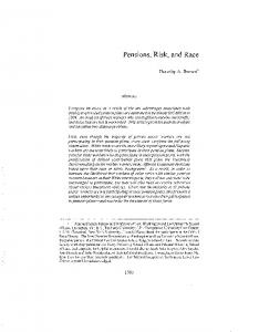 Pensions, Risk, and Race