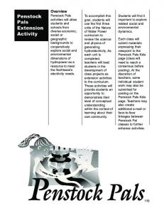Penstock Pals Extension Activity