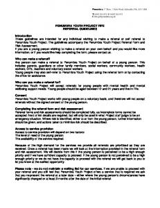 PENUMBRA YOUTH PROJECT FIFE REFERRAL GUIDELINES