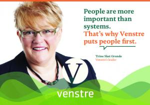 People are more important than systems. That s why Venstre puts people first. Trine Skei Grande Venstre s leader