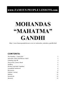 PEOPLE LESSONS.com GANDHI