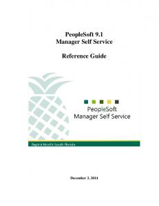 PeopleSoft 9.1 Manager Self Service. Reference Guide