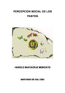 PERCEPCION SOCIAL DE LOS PASTOS