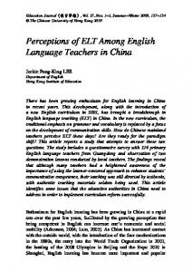 Perceptions of ELT Among English Language Teachers in China