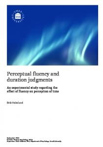 Perceptual fluency and duration judgments