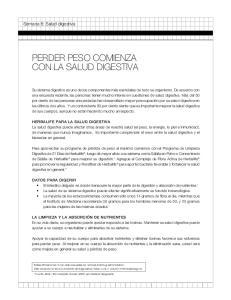 PERDER PESO COMIENZA CON LA SALUD DIGESTIVA