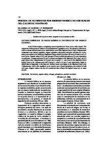 PERDIDA DE NUTRIENTES POR EROSION HIDRICA EN DOS SUELOS DEL CALDENAL PAMPEANO