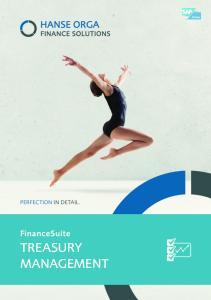 PeRFeCTIOn In detail. FinanceSuite. TREASURy management