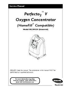 Perfecto 2 V Oxygen Concentrator