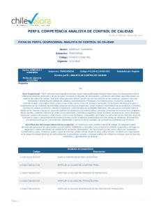 PERFIL COMPETENCIA ANALISTA DE CONTROL DE CALIDAD